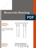 Routing in a Gated Reservoir