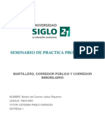 Seminario Práctica Profesional Caso I - Martillero, Corredor Público y Corredor Inmobiliarios