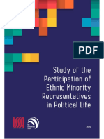 Study of the Participation of Ethnic Minority Representatives in Political Life
