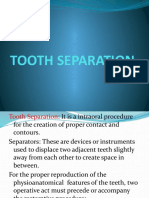 Tooth Separation