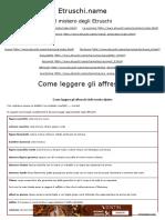 Tarquinia La Tarchuna Etrusca. Manuale Di Lettura Delle Pitture Etrusche 2