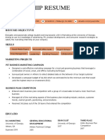 Internship Resume Sample Advanced Orange