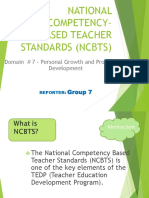 National Competency Based Teacher Standards