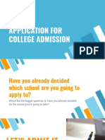 Application for College Admissions