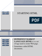 Starting HTML