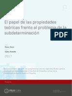 Rocio Pérez - El papel de las propiedades teóricas frente al problema de la subdeterminación