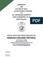 b.sc. (Honours) Chemistry Part III (Semester v & Vi)96829-2018