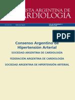 Consenso de  Hipertensión arterial de la sociedad argentina de cardiología  2018