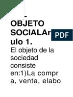 Del Objeto Socialartículo 1