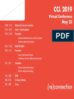 CCL 2019 Schedule
