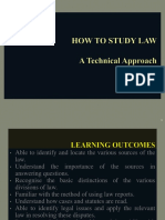 How to Study Law