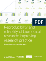 Reproducibility and Reliability of Biomedical Research