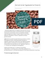 Protein-Rechner Wie Hoch Ist Der Tagesbedarf an Protein und Lysin?