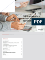 Exemption Accffgggreditation Application Pack