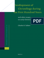 Talbert - The Development of Christology During the First Hundred Years (2011)