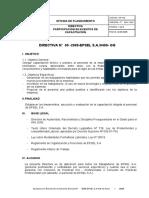 Plan 13475 Directiva Capacitacion Epsel 2009
