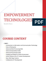 Introduction to Empowerment Technologies