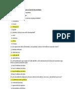 Cuestionario  psicología