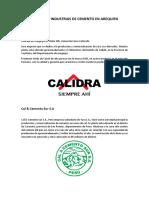 Fabricas e Industrias de Cemento en Arequipa