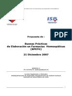 Buenas Practicas de Elaboracion en Farmancia Homeopatica