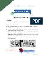 HISTORIA Y SISTEMAS CONTEMPORÁNEOS DE LA PSICOLOGÍA PRODUCTO ACADÉMICO N°2