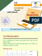 6 List Manipulation
