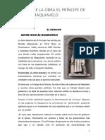 Analisis de La Obra El Príncipe de Nicolas Maquiavelo