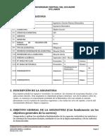 203 - Syllabus Algebra Lineal I Ing.mat.