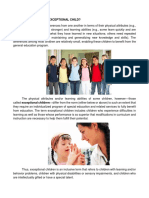 Guidance Services for Exceptional Children