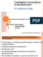 Pre and Post Operative Care Principles
