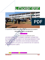 Amanang'Ole Ileny Attachment Report