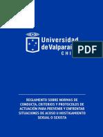 Protocolo Conducta Universidad de Valparaíso