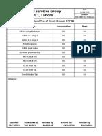 Hipot Test of 132 KV Line HBS 1 & 2