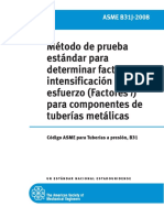 Factor de Intensificación de esfuerzos ASME 31.3
