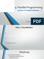 Part 1 - Lecture 3 - Parallel Software-1