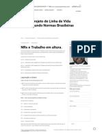Projeto de Linha de Vida Segundo Normas Brasileiras - Consultoria & Engenharia