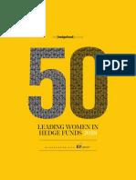 THFJ 50 Leading Women in Hedge Funds 2018