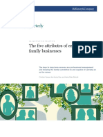 The Five Attributes of Enduring Family Businesses