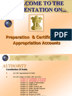 Prepn and Certifn of Apprn Accounts