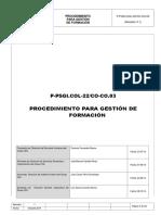 P-PSGI.col-22CO-CO.03 Procedimiento Para Gestión de Formación