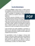 REUNIÃO METODOLOGICA (PEDAGOGIA)