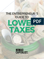 Entrepreneur Guide to Lower Taxes