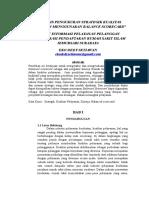 """""""Analisis Pengukuran Strategik Kualitas Pelayanan Menggunakan Balance Scorecard"""""""