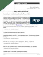 Date with Destiny Questionnaire