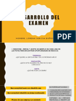 Desarrollo Del Examen