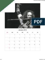 Jethro Tull - Ex Calendar Print , Jan 2018 - Via Free Photo Calendar Maker, Printable