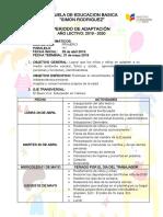 Plan de Adaptacion 2019-2020