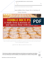 Edible Rice Paper