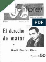 BARON BIZA - El Derecho de Matar (Adaptación Teatral)