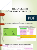 Multiplicación de Números Enteros (z)Dd
